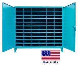 Streamline Industrial Storage pick Bin Cabinet - 66 Compartments - Lockable - 72 H X 36 D X 77 W