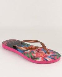 Havaianas Slim Tropical Flip Flops Rose  b446897e4