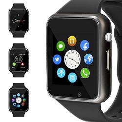 Wjpilis Smart Watch Touchscreen Bluetooth Smartwatch Wrist Watch Sports Fitness Tracker With Sim Sd Card Slot Camera Pedometer Compatible Iphone Ios Samsung Android For