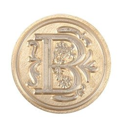 Shuohu 1 PC 26 Letter A-z Alphabet Initial Flower Seal Wax Stamp Post - B