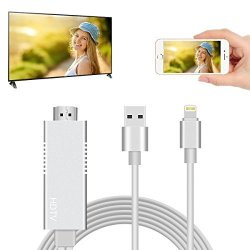 RGUSEN Soeland Lightning Mhl To HDMI Cable Adapter 6 5FT 1080P HDMI Video  Connector Compatible For Iphone Tv Projector Monitor P   R765 00   Handheld
