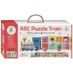 Building Blocks Abc Puzzle Train - 28-PIECE Giant Puzzle Train And Book