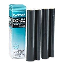 Brother Amp Reg - PC402RF Thermal Transfer Refill Roll Black 2 PACK - Sold As 1 Pack - Thermal Transfer Refill Rolls For Amp Reg Plain