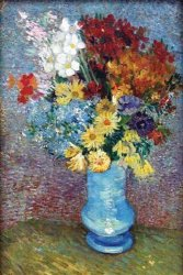 Walls 360 Peel & Stick Wall Decal: Flowers In A Blue Vase By Vincent Van Gogh 8 In X 12 In