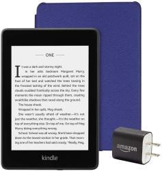 Amazon Kindle Paperwhite Bundle Kindle Paperwhite Indigo Purple Leather Cover