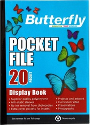 Butterfly Pocket File A4 - 20 Page