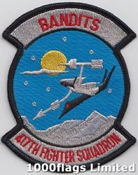 1000 Flags 417TH Weapons Squadron Us Air Force The Bandits Embroidered Patch