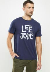 Lee Rough Tee - Navy