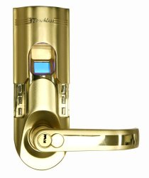 ITouchless Bio-matic Fingerprint Door Lock Right Handle Gold