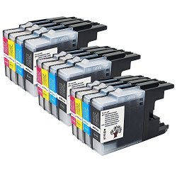 GREENSKY 12PK 3 Black 3 Cyan 3 Magenta 3 Yellow Compatible Brother LC71 LC75 LC79 Ink Cartridge For Brother MFC-J435W MFC-J430W MFC-J280W MFC-J6910DW J825DW J4300