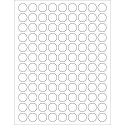"Circle Laser Labels stickers 3 4"" White 10800 Labels Per Case"