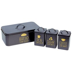 No Brand - Bread Bin And 3PC Canister Combo
