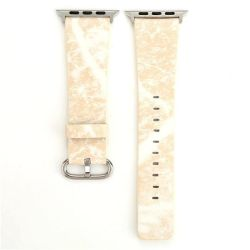 Cream Marble 38MM Band For Apple Watch