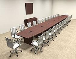 Modern Boat Shaped 30' Feet Conference Table OF-CON-C107