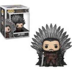 Funko Pop Deluxe: Game Of Thrones - Jon Snow Sitting On Throne Vinyl Figurine