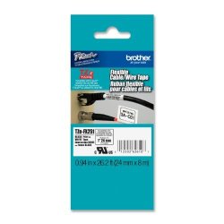 Brother Printer Brother Laminated Flexible Id Black On White 1 Inch Tape - Retail Packaging TZEFX251 - Retail Packaging