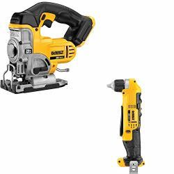 DEWALT DCS331B 20V Max Jig Saw & DCD740B 3 8 Right Angle Drill driver