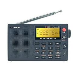 Crane C Cc Skywave Am Fm Shortwave Weather And Airband Portable Travel Radio With Clock And Alarm