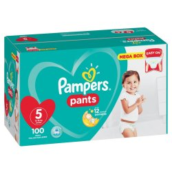 Pampers Pants 100 Nappies Size 5 Junior AB Megabox