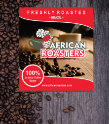African Roasters Brazil Coffee Beans - 1KG Beans Only