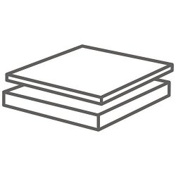 """Ptfe Teflon Sheets 3 32"""" Thick X 6 In. Width X 6 In. Length"""