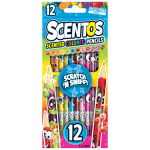 Scentos Scented Colored Pencils Collectible Series 1 - 12 Pack