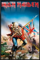"""POSTER STOP ONLINE Iron Maiden - Framed Music Poster Print Trooper Size: 24"""" X 36"""""""