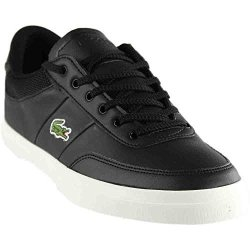 348a30d34 Lacoste Mens Court-master Sneakers Black off White Leather 11 M Us ...