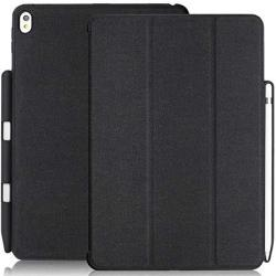Khomo Ipad Pro 10.5 Inch & Ipad Air 3 2019 Case With Pen Holder - Dual Charcoal Grey Super Slim Cover With Rubberized Back