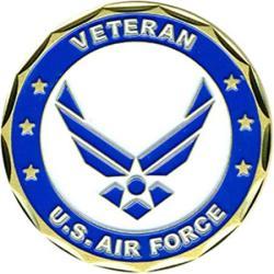 USA Collectible Veteran Service Air Force Coin