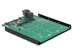 Delock 62704 3.5 Converter Sata 22 Pin sff 8643 Nvme 1 X M.2 Key M + 1 X M.2 Key B Computer Mounts