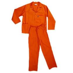 Pinnacle Size 32 Polycotton Safety Overall in Orange