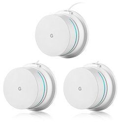 OkeMeeo Google Wifi Wall Mount Ceiling Mount Stand Holder For Google Wifi  System Space Saving And Enlarging Coverage 3-PACK   R   Other Adapters  