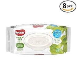 Natural Care Huggies Unscented Baby Wipes Sensitive 8 Flip