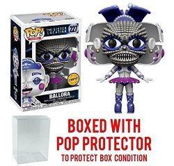 Freddy's Sister Five Nights At Location Ballora Pop Vinyl Figure Chase Variant And Bundled With Pop Box Protector Case