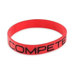 Forge Compete - Motivational Red Silicone Wristband 1 Bracelet