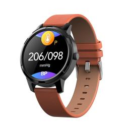 X20 1.3 Inch Full Circle Tft Screen Smart Sport Watch IP67 Waterproof Support Real-time Heart Rate Monitoring Sleep Monitoring Bluetooth Alarm Clock Brown