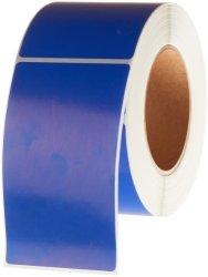 "Tape Logic DL632B Inventory Rectangle Label 5"" Length X 3"" Width Dark Blue Roll Of 500"