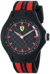 Ferrari Men's 0830172 Pit Crew Black And Red Watch