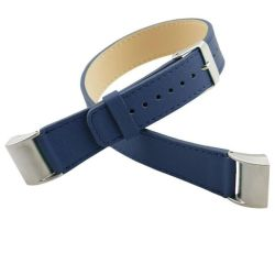Double Leather Band For Fitbit Charge 2 - Navy