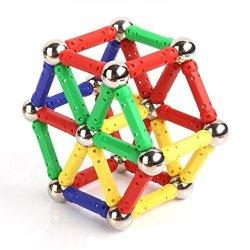 120pcs Magnet Building Blocks Construction Set 72 Sticks and 48 Balls Children