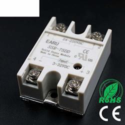 1 Pcs Solid State Relay SSR-75DD 75A 3-32V Dc Input To 24-220V Dc Ssr 75DD SSR-75 Dd Industry Control Factory Hot