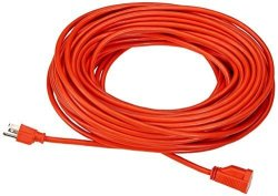 AmazonBasics 16 3 Vinyl Outdoor Extension Cord - 100 Feet Orange