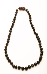 African Baby Carrier Baltic Amber Teething Necklace - Dark Cherry