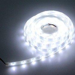 LEDMY Flexible LED Strip Lights Ul E477884 Certification Dc 24V 12W SMD3528 150LEDS IP68 Waterproof Under Cabinet Lights Cool Wh