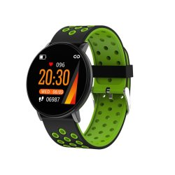 Full Touch Ips Screen Waterproof Fitness Smart Watch - Green