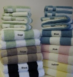 Egyptian Cotton Factory Outlet Store 6 Piece Luxury 100% Egyptian Cotton  Yellow Yarn Dyed Towels Set 755934b838dd3