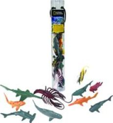 National Geographic Ocean Animals In A Tube 13 Pieces Small 5 - 12CM