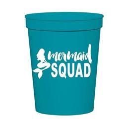 Mermaid Squad Cups Stadium Cups Mermaid Party Decororations Mermaid Party Cups Mermaid Bachelorette Party Or Birthday Party Cups Plastic