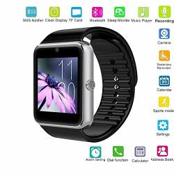 Changsha Hangang Technology Ltd Hangang GT08 Smart Watch With Sim Card Slot And Remote Camera anti-lost For Andiord Phones Smartwatch Wristband Silver